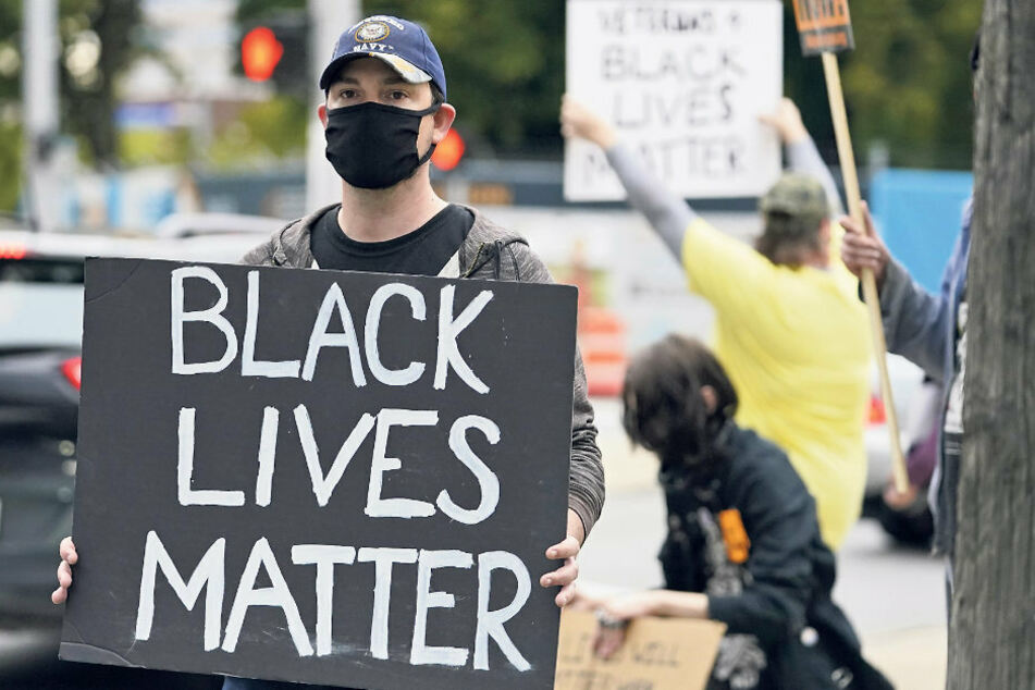 """Auch in Columbia demonstrierte die """"Black Lives Matter""""- Bewegung im Vorfeld der Präsidentschaftsdebatte."""