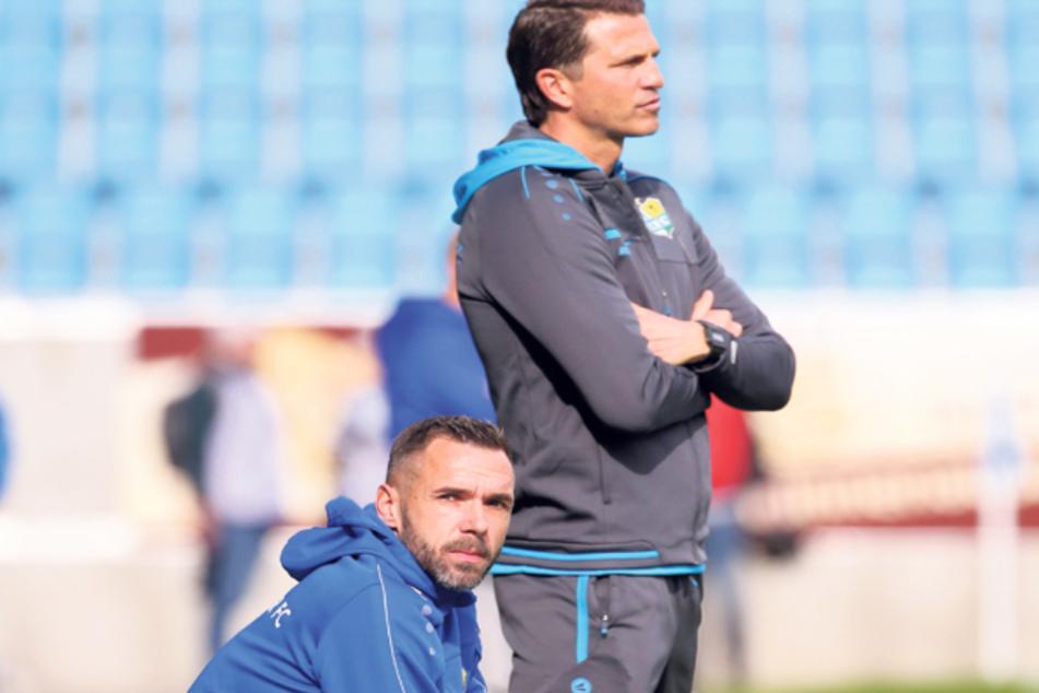 Trainer Patrick Glöckner (r.) und Assistent Christian Tiffert waren beim CFC ein gut harmonierendes Gespann. Folgt der Co seinem (Ex-)Chef zu dessen neuem Verein?