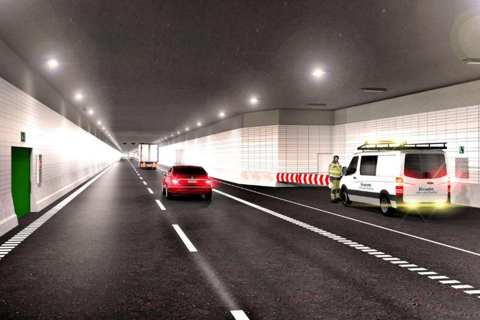 Sie aus wie jeder Tunnel: Der geplante Ostseetunnel führt unter dem Meeresboden lang. (Visualisierung)