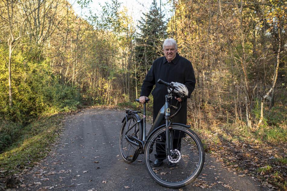 Dieter Greysinger (55, SPD) würde den Striegistal-Radweg gern weiter bauen lassen.