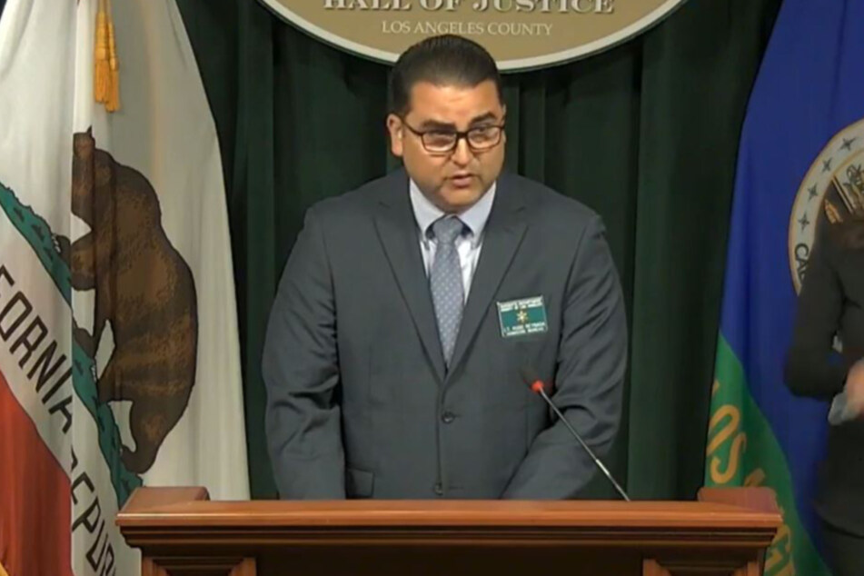 Lieutenant Hugo Reynaga at the press conference on Wednesday.