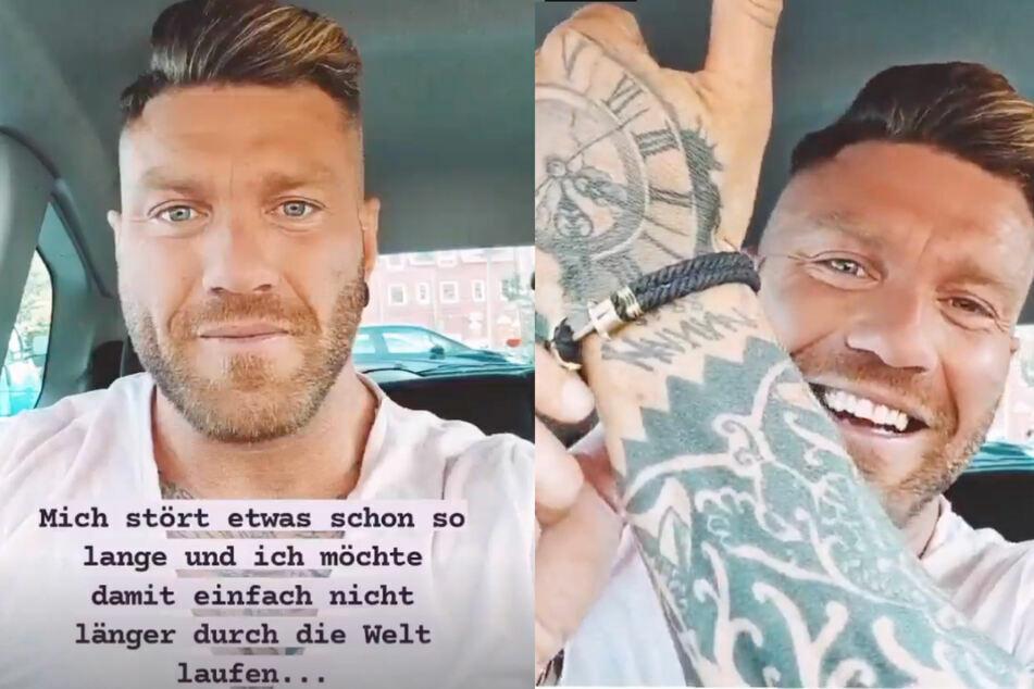 Till Adam (32) zeigte seinen Tattoo-Fail bei Instagram.