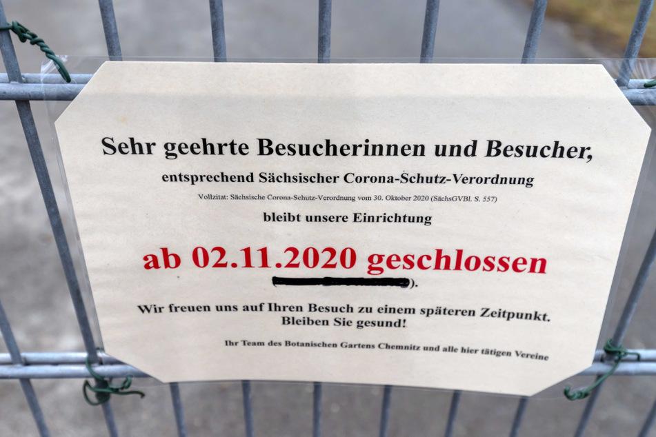 Seit Anfang November ist der Botanische Garten aufgrund der Corona-Pandemie für Besucher geschlossen.
