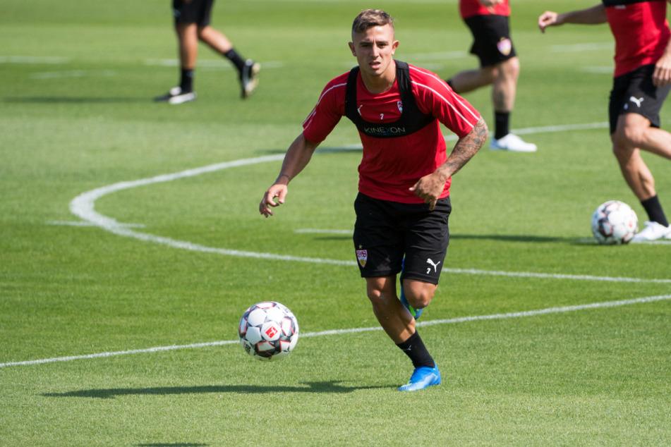 Der spanische Erstligist RCD Mallorca hat einem Bericht zufolge Interesse an einer Leihe des VfB-Spielers Pablo Maffeo (23). (Archivbild)