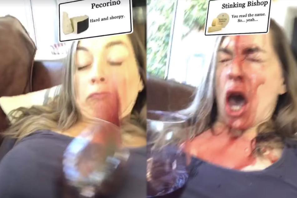 Mit ihrem Weinglas kippte die Stimmung...