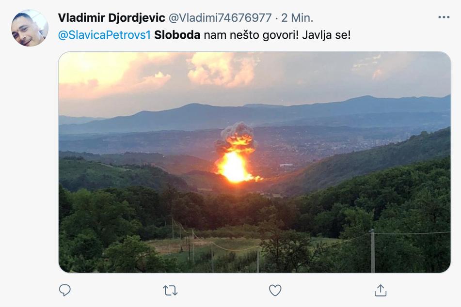 Erneute Explosion in einer Munitionsfabrik in Serbien.