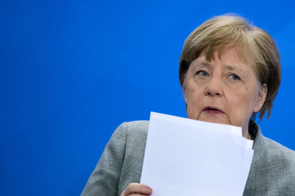 Bundeskanzlerin Angela Merkel (65, CDU) bei der Pressekonferenz am Mittwoch.