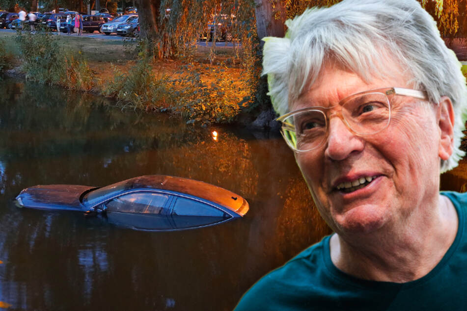 Skoda im Schlossteich versenkt: Jetzt erklärt der Künstler warum