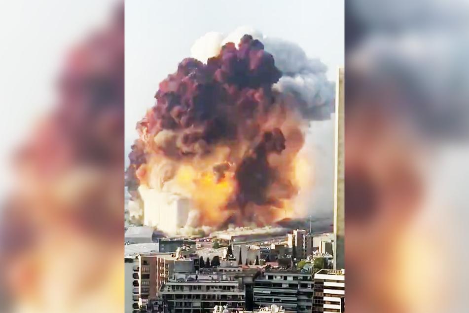 Bei der Explosion wurden zahlreiche Gebäude zerstört.