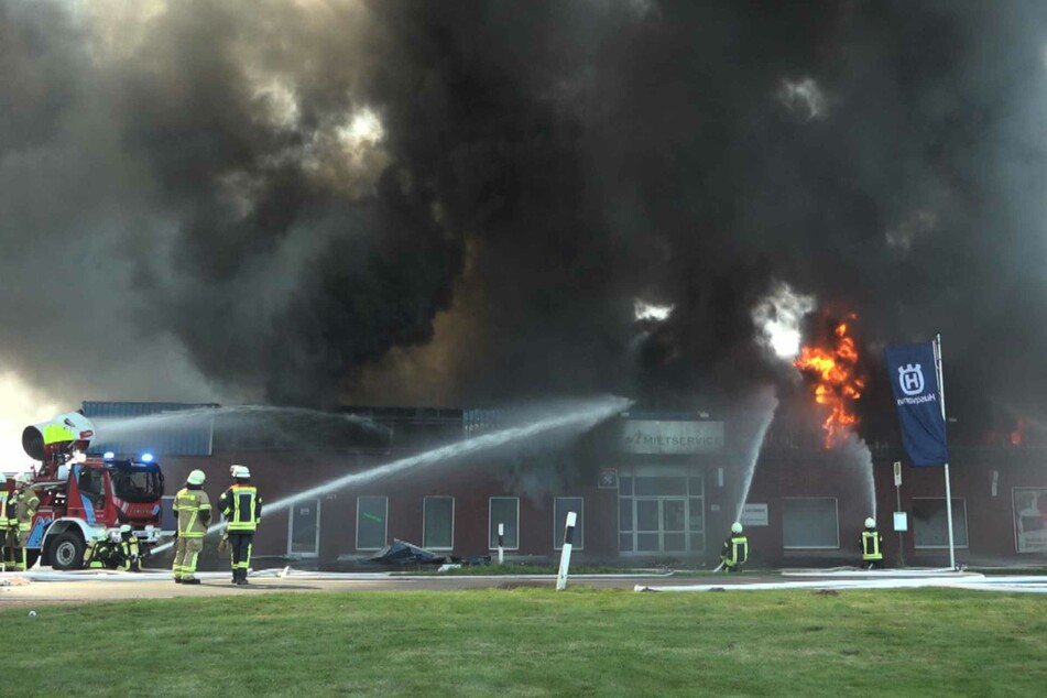 Das Fitnessstudio brannte komplett aus.