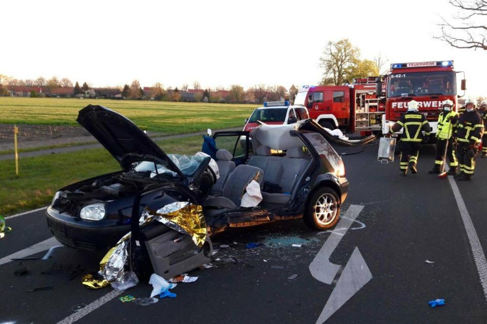 Berlin: Schwer Verletzter nach heftigem Frontal-Crash