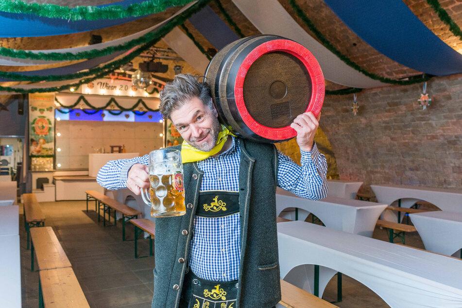 Event-Profi Clemens Lutz (48) feiert im Eventgewölbe Dresden Oktoberfest.