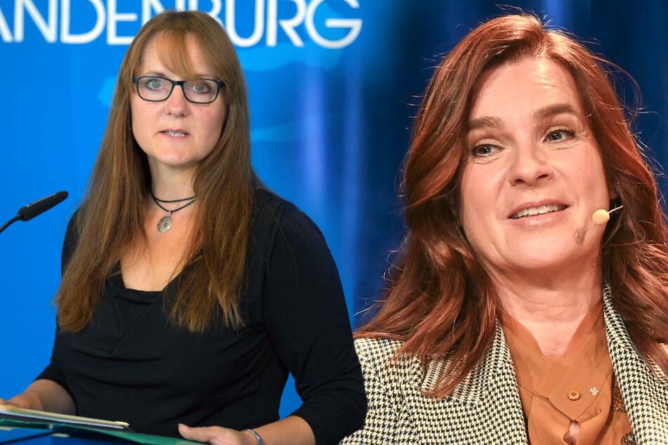Eiskunstläuferin Katarina Witt (55, r.) ist mit ihrer Kritik am Corona-Lockdown und den Folgen auf das Verständnis von Brandenburgs SPD-Vizechefin Katrin Lange (49) gestoßen.
