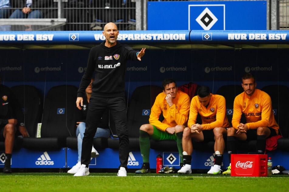 Dynamo-Coach Alexander Schmidt (52, l.) durfte sich über die nächste starke Leistung seiner Mannschaft freuen.