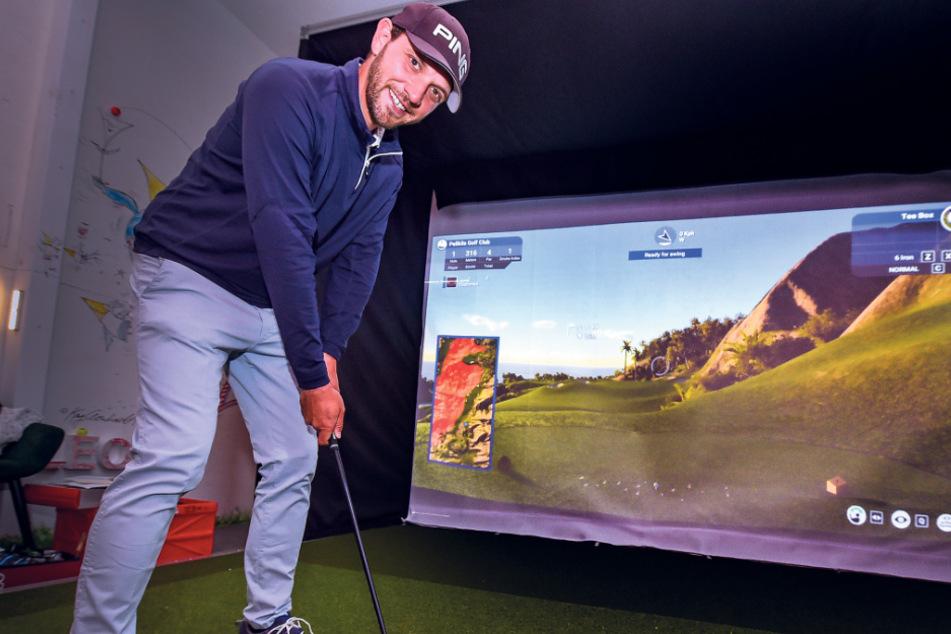 Dresden: Einlochen in aller Welt: Golfsimulator in Ullersdorf macht's möglich