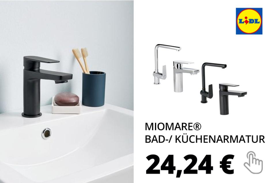 MIOMARE® Bad-/ Küchenarmatur, mit verschleißarmer Keramikscheibe, Wassersparfunktion