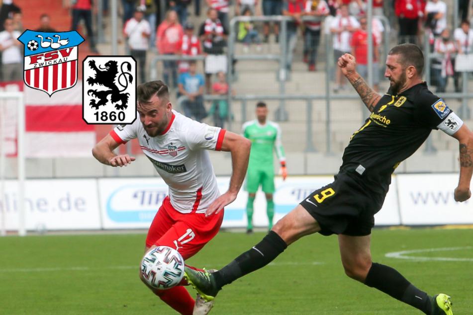 FSV Zwickau zieht gegen 1860 München knapp den Kürzeren