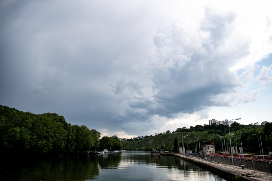 Der Wasserstand des Neckars ist durch die Niederschläge hoch. (Archiv)