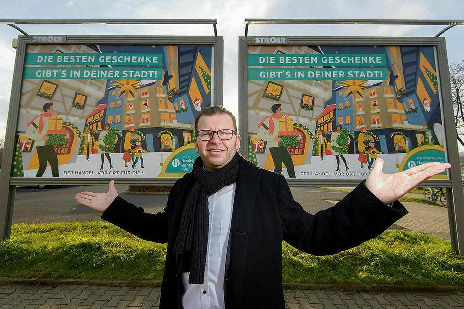 Im vergangenen Jahr warb Verbands-Chef René Glaser noch fürs Einkaufen in der Stadt. Heute bangt er ums Überleben der Geschäfte.