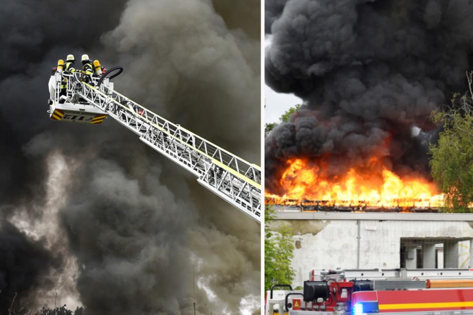 München: Riesige Rauchsäule über München: Feuerwehr muss von allen Seiten kämpfen