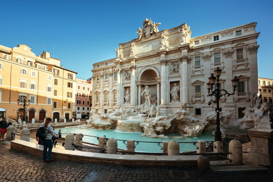 Der Protest fand vor der schönen Kulisse des Trevi-Brunnens in Rom statt. (Archiv)