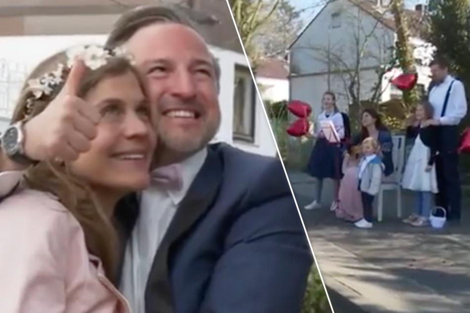 Hamburger Paar landet mit Corona-Hochzeit viralen Hit