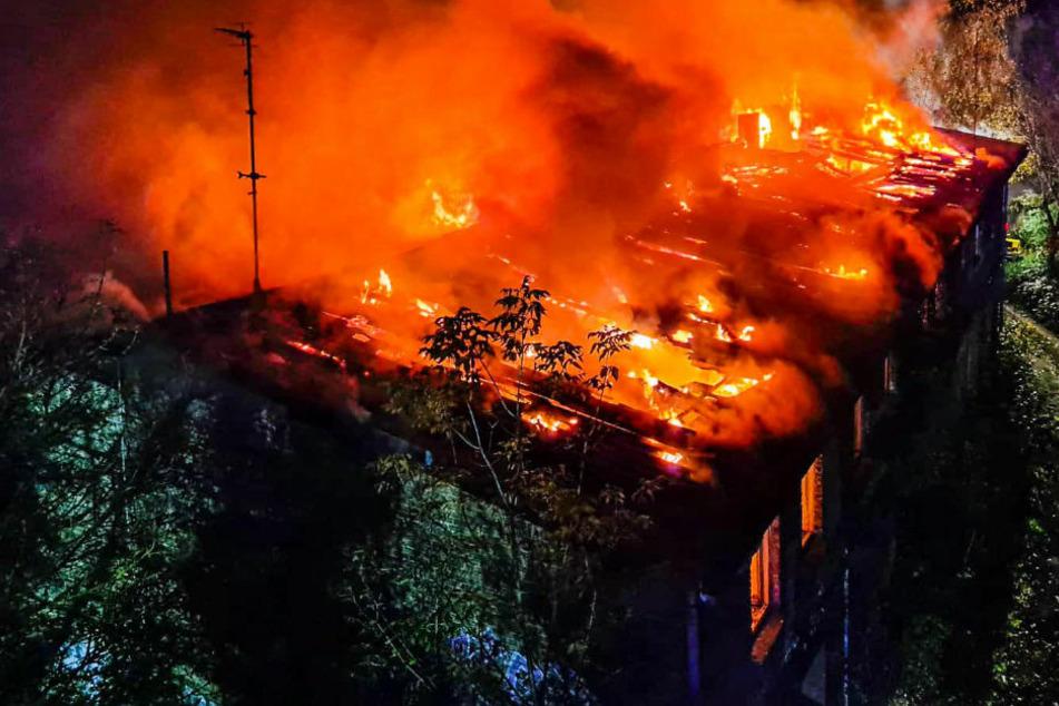 Die Luftaufnahme zeigt das ganze Ausmaß des Infernos.