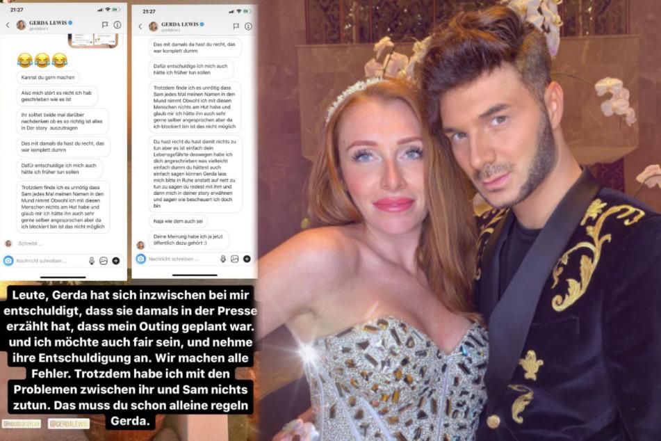 Georgina Fleur (30) und Sam Dylan (29) haben im Dubai-Urlaub über Influencer gelästert. (Fotomontage)