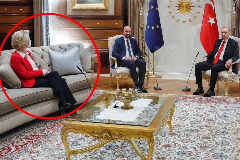 """Sitzordnung bei Erdogan sorgt für Mega-Shitstorm: """"Autoritäre Machos"""""""