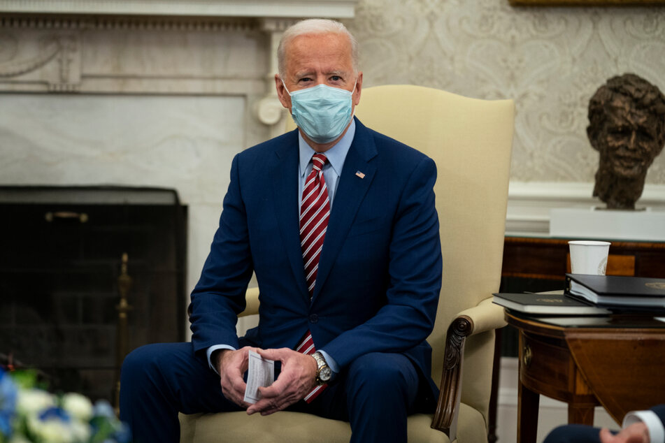 Joe Biden im Oval Office des Weißen Hauses.