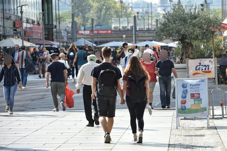 Auf der Prager Straße hat ein 66-Jähriger für einen Polizeieinsatz gesorgt. (Archivbild)