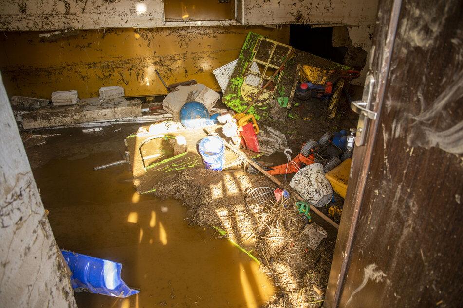 Im Kindergarten Starennest in Neundorf wurde der komplette Keller überflutet.