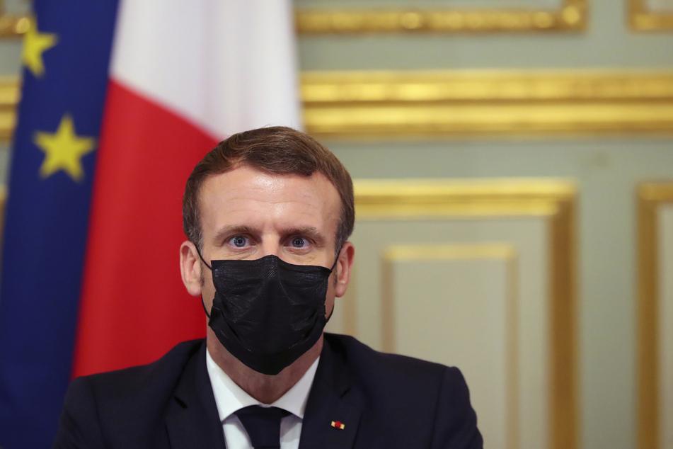 Der französische Präsident Emmanuel Macron (42).
