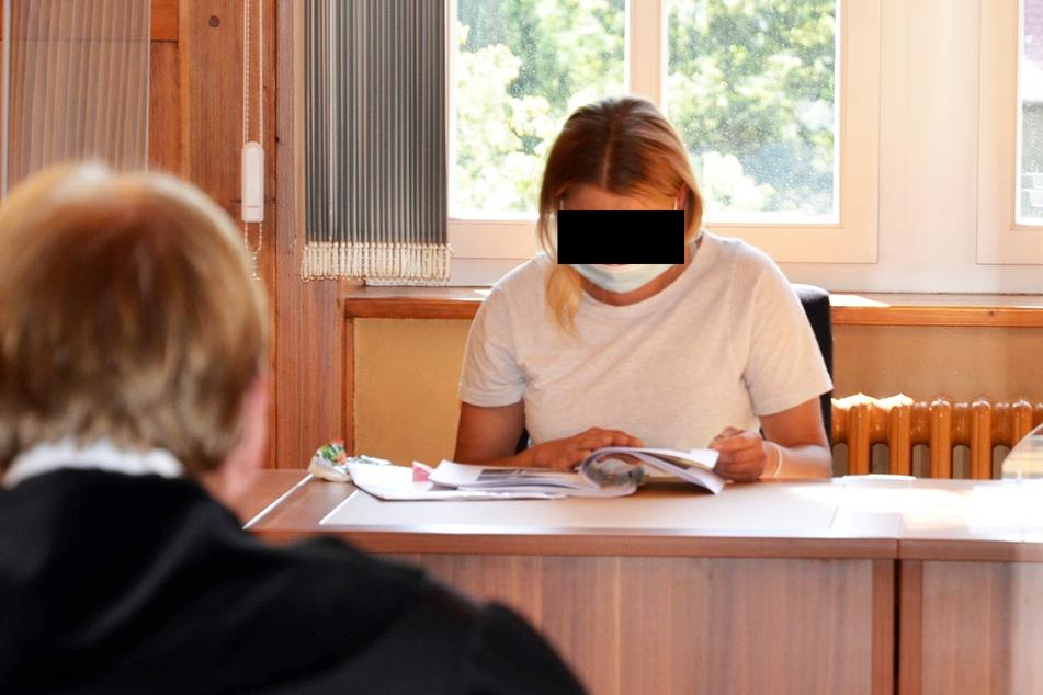 Malgorzata S. (36) bei ihrem Prozess am Amtsgericht Bautzen.