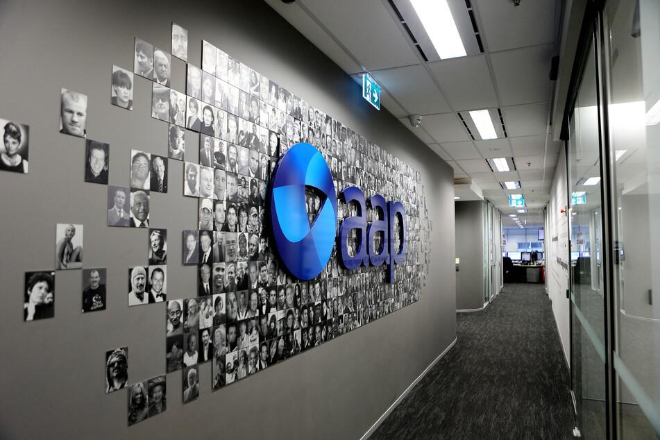 An AAP logo the Australian Assoiciated Press's.
