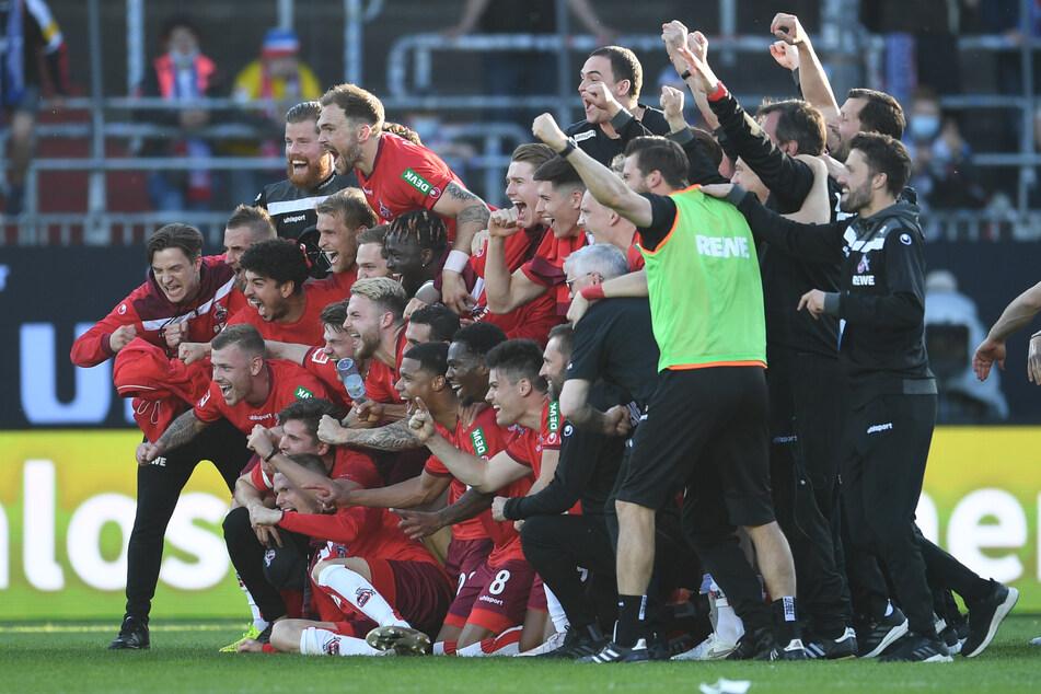 Im August kann der 1. FC Köln vielleicht schon wieder jubeln. Dann muss die Mannschaft am ersten Spieltag der Bundesligasaison 2021/22 gegen Hertha BSC ran.