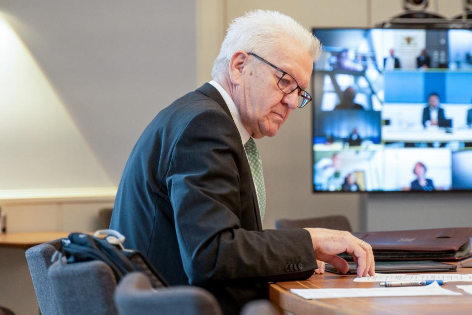 Winfried Kretschmann (71, Bündnis 90 / Die Grünen).
