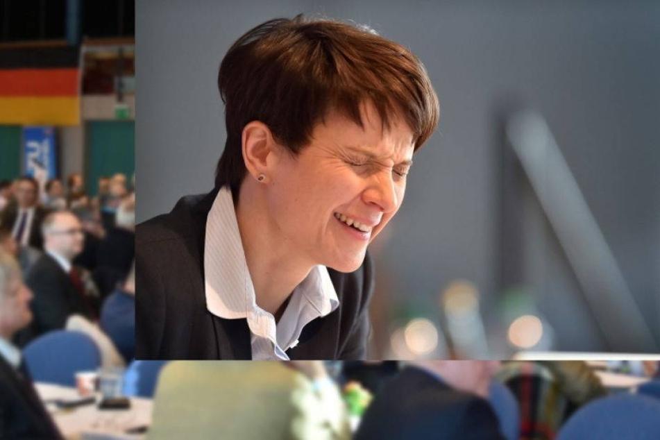 Hier lacht sich Frauke Petry über ihre Widersacher kaputt
