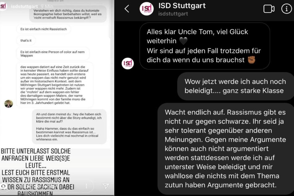 """Talia S. wurde von der ISD Stuttgart im Chat auf Instagram unter anderem als """"Uncle Tom"""" beleidigt. (Fotomontage)"""