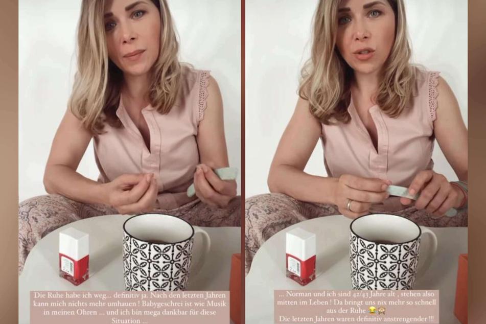 """Tanja Szewczenko (43) hat trotz Babygeschrei und turbulenter Situationen daheim """"die Ruhe weg"""", wie sie kürzlich bei Instagram erklärte."""