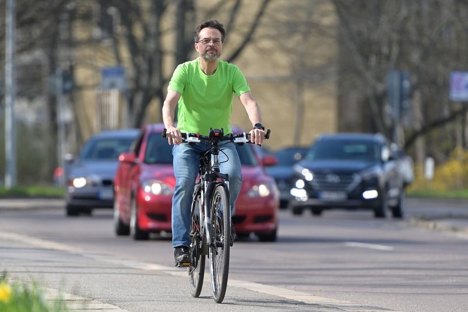 Bekannt ist Thomas Lörinczy in Chemnitz als Vorkämpfer für die Fahrradfahrer.