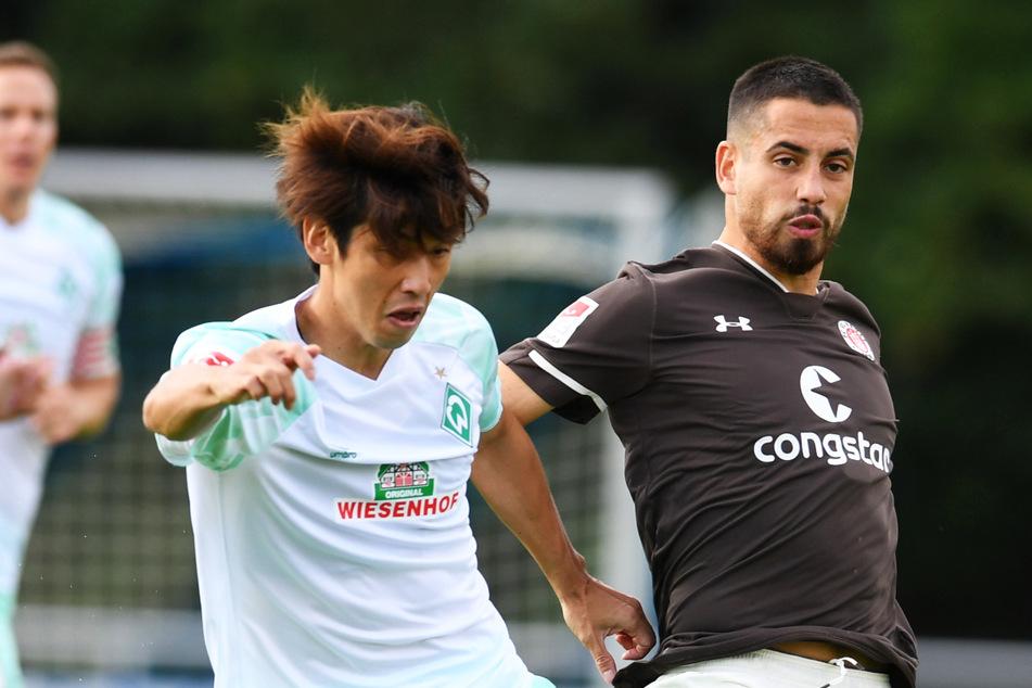Ersin Zehir (23, r.) verlässt den FC St. Pauli. Der Vertrag des 23-Jährigen wurde einvernehmlich aufgelöst. (Archivfoto)
