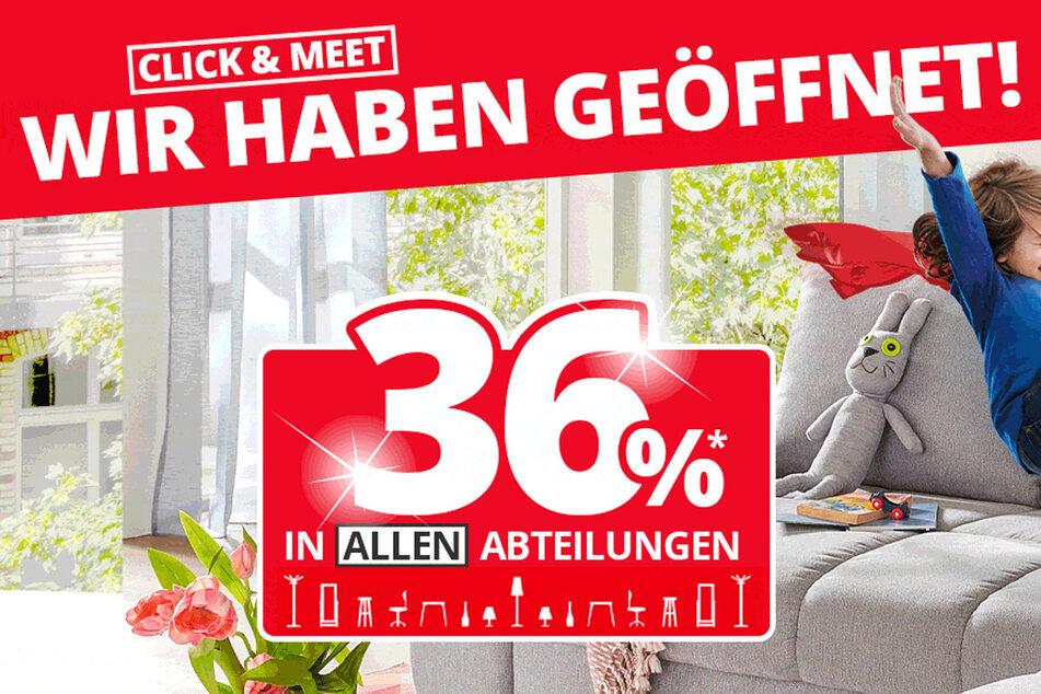 Zusätzlich gibt es 15 Prozent Rabatt auf Gartenmöbel¹!