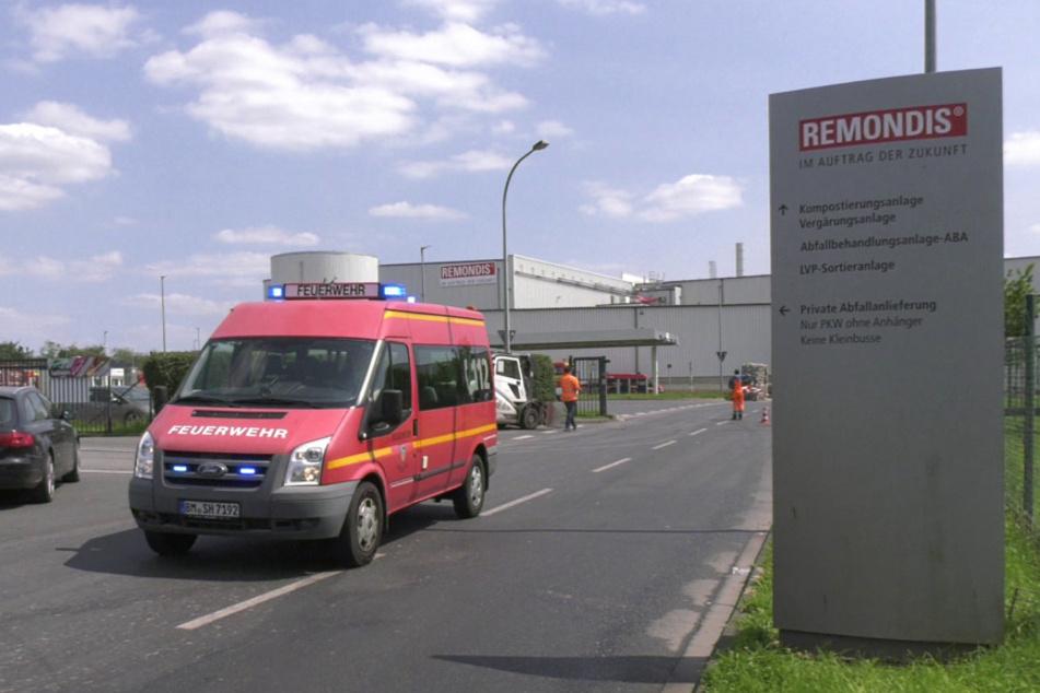 Remondis-Müll-Anlage bei Erftstadt fängt Feuer