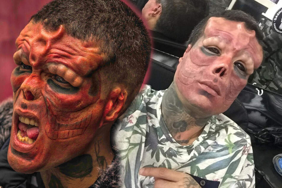 Tattoo artist Henry Rodriguez has made it his life's mission to look like the Red Skull.