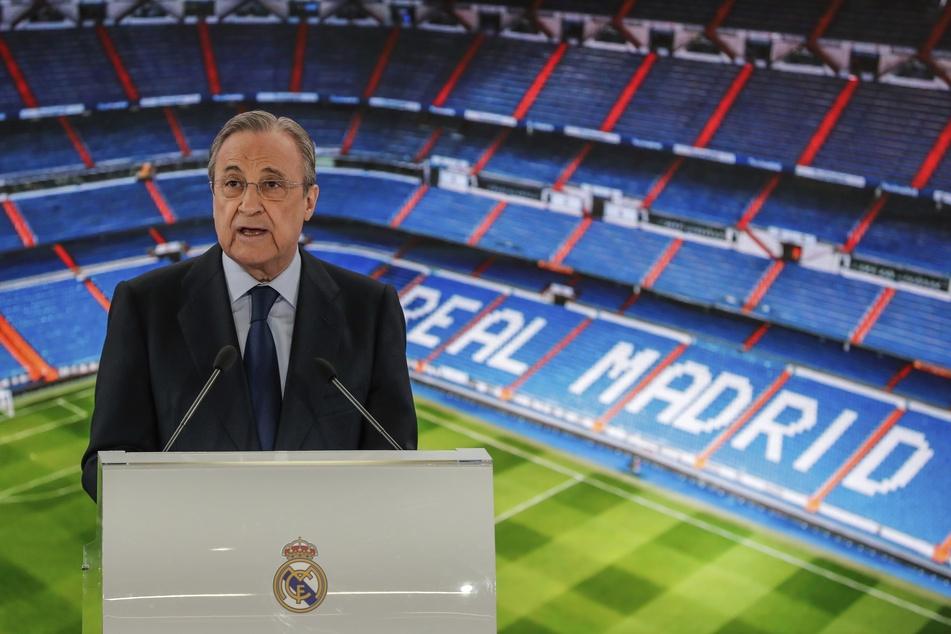 Real Madrids Präsident Florentino Pérez (74) will die Super League weiterhin.