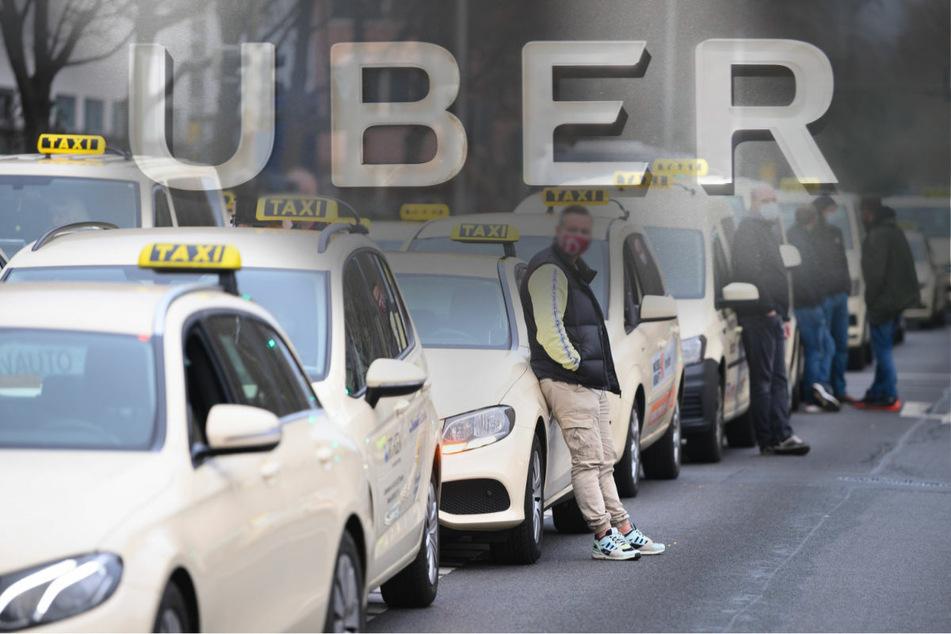 """Kein """"Freibrief für Uber"""": Berliner Taxifahrer protestieren mit Autokorso"""