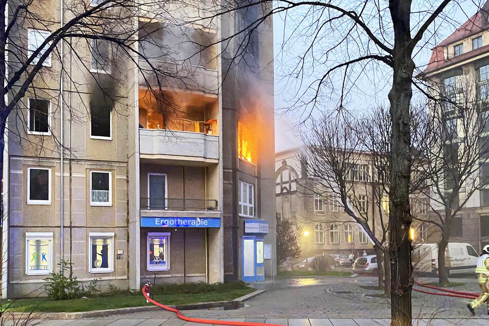 Diese Wohnung brannte am gestrigen Mittwoch lichterloh.