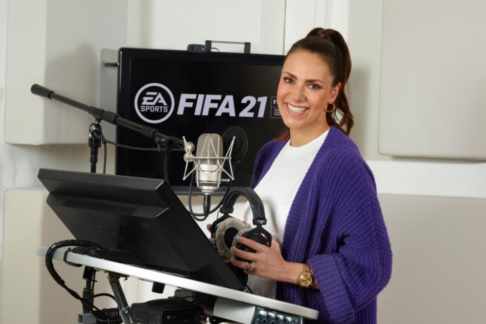 Esther Sedlaczek (34) wird bei FIFA 21 zu hören sein.
