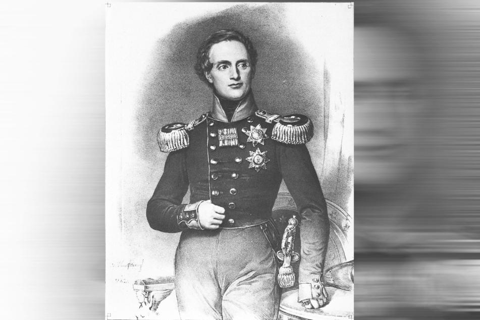 Der beim Volk beliebte König Friedrich August II. hatte die Sintflut mit seiner Verwaltung recht gut im Griff.